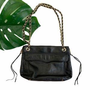 REBECCA MINKOFF | Black Leather Swing Bag